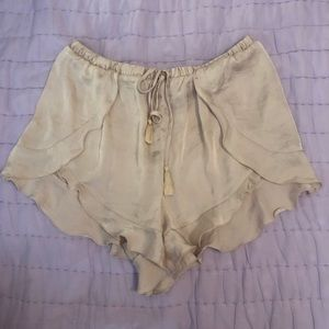 Free People Ruffled Shorts